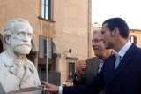 """Viterbo: """"Omaggio a Verdi"""", scoperto il busto recuperato dal Laboratorio provinciale di restauro"""