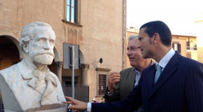 Viterbo: ''Omaggio a Verdi'', scoperto il busto recuperato dal Laboratorio provinciale di restauro