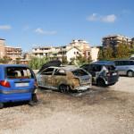 Piromani in azione: 12 veicoli in fiamme a Montesacro
