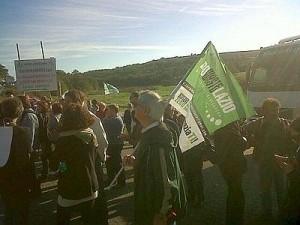 BRACCIANO/Rifiuti, sit-in alla discarica di Bracciano: 'No ad una nuova Malagrotta'