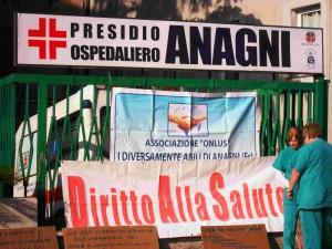 Anagni, i comitati protestano contro la chiusura degli ospedali