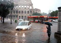 Maltempo a Roma: fino a stasera l'allerta della Protezione civile