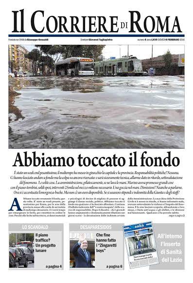 IL CORRIERE DI ROMA - GIOVEDI' 6 FEBBRAIO 2014