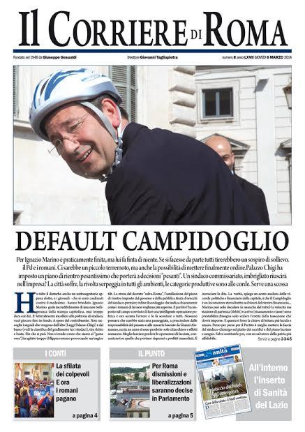IL CORRIERE DI ROMA - GIOVEDI' 6 MARZO 2014