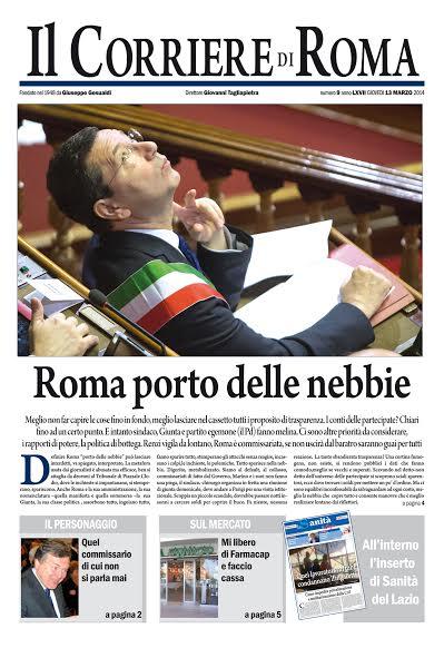 IL CORRIERE DI ROMA - GIOVEDI' 13 MARZO 2014