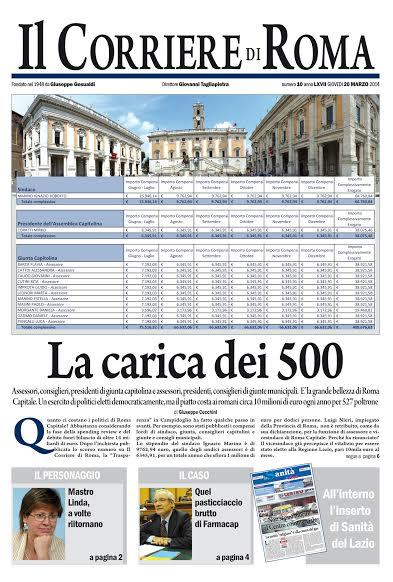 IL CORRIERE DI ROMA - GIOVEDI' 20 MARZO 2014
