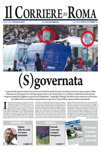IL CORRIERE DI ROMA - GIOVEDI' 27 MARZO 2014