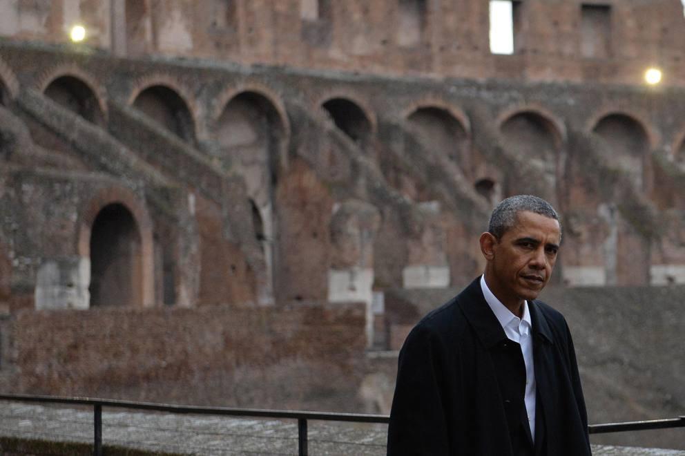 Obama al Colosseo, più grande di uno stadio da baseball