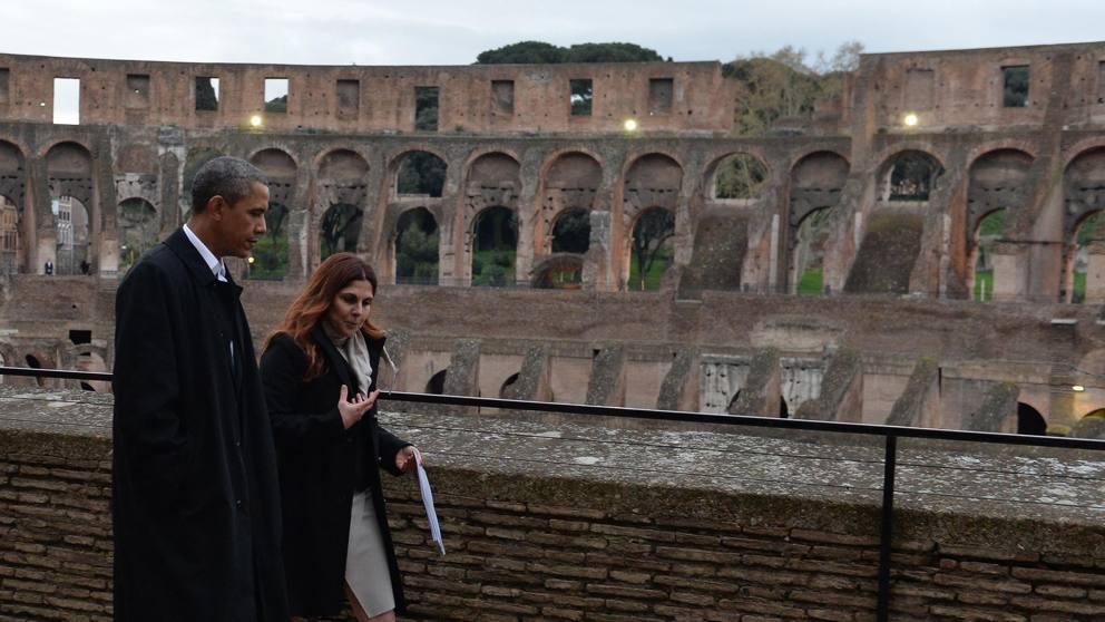 L'architetto cicerone al Colosseo, Obama che galantuomo