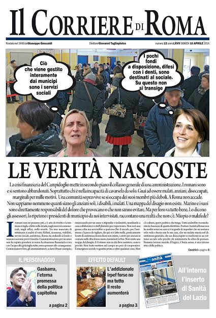 IL CORRIERE DI ROMA - GIOVEDI' 10 APRILE 2014