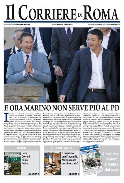 IL CORRIERE DI ROMA - GIOVEDI' 28 MAGGIO 2014