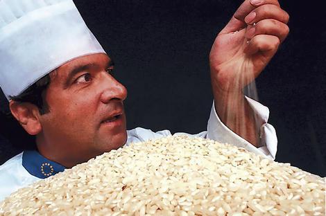 A lezione dal guru del risotto
