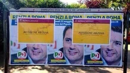 EUROPEE/ Affissioni abusive a Roma: il premier Renzi viola le regole del sindaco Marino