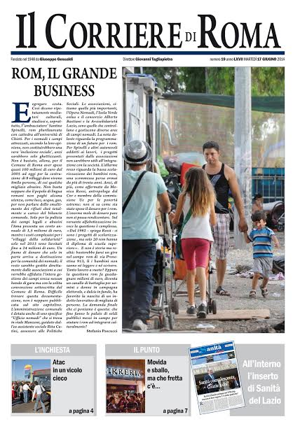 IL CORRIERE DI ROMA - MARTEDI' 17 GIUGNO 2014