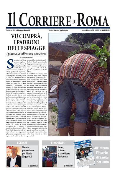 IL CORRIERE DI ROMA - MARTEDI' 24 GIUGNO 2014