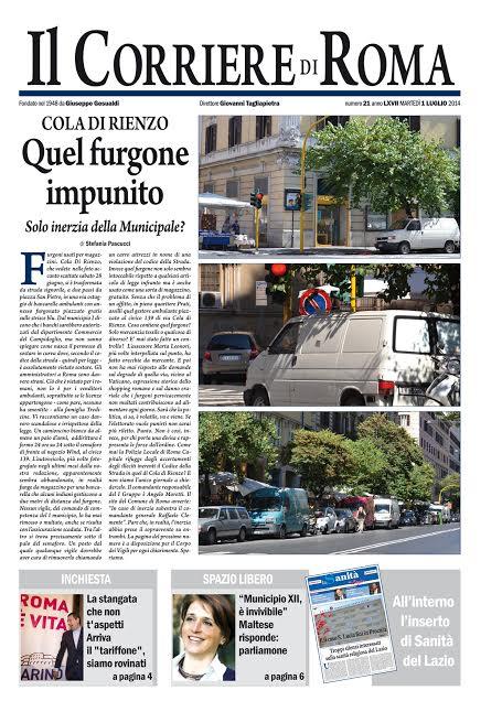 IL CORRIERE DI ROMA - MARTEDI' 1 LUGLIO 2014