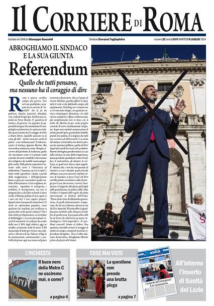 IL CORRIERE DI ROMA - MARTEDI' 8 LUGLIO 2014