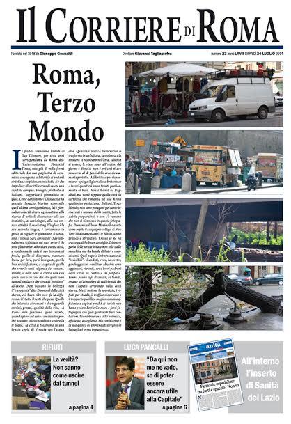 IL CORRIERE DI ROMA - GIOVEDI' 24 LUGLIO 2014