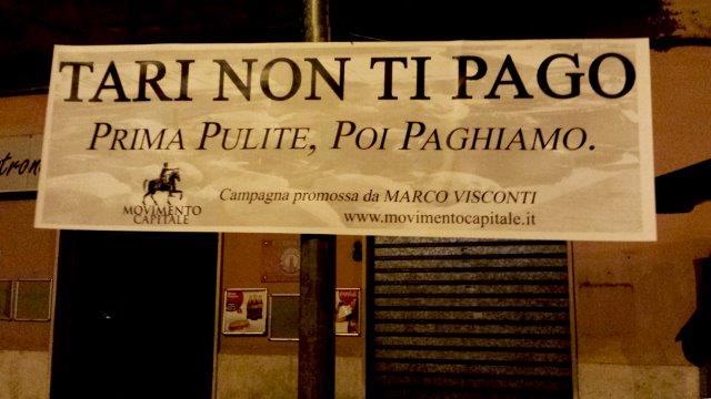 Tari non ti pago: Visconti, cartelli protesta al municipio XIII