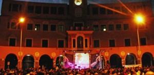 piazza sempione di sera