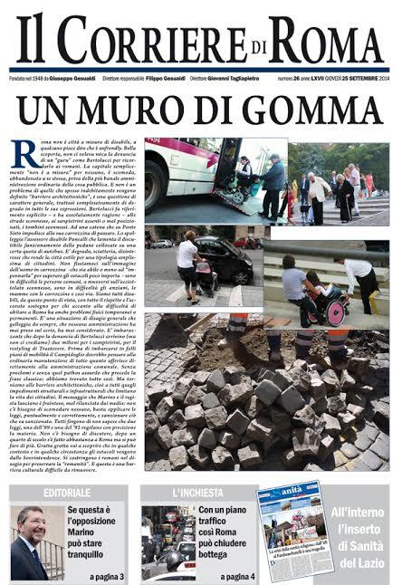 IL CORRIERE DI ROMA - GIOVEDI' 25 SETTEMBRE 2014