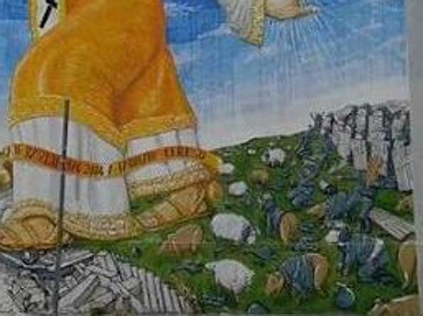 San Basilio, il murales della vergogna: poliziotti dipinti come maiali
