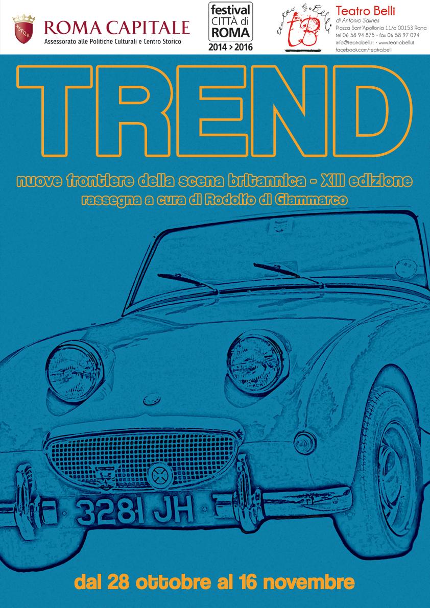 Teatro, torna Trend: sette spettacoli dall'Inghilterra, appuntamento al Belli dal 28 ottobre
