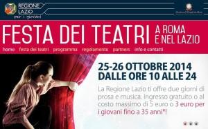 Festa dei teatri, via all'evento nel Lazio: 120 eventi in tutta la regione