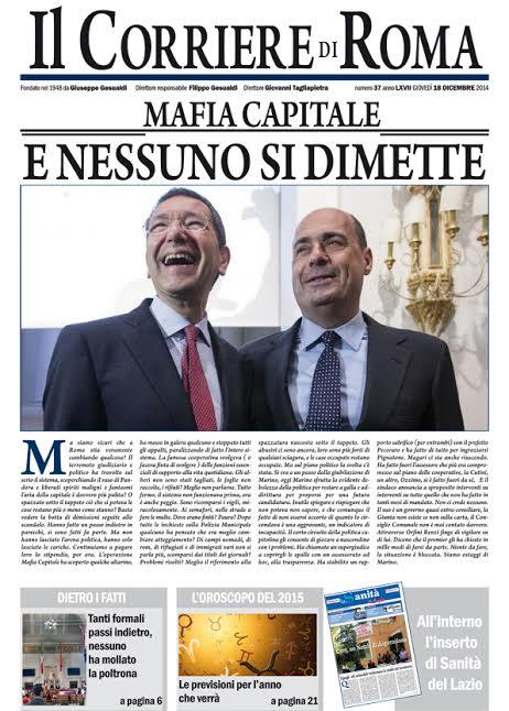 IL CORRIERE DI ROMA - GIOVEDI' 18 DICEMBRE 2014