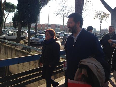 Marino a pranzo a Tor Sapienza, ospite di una famiglia.
