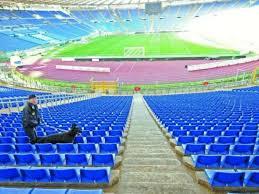 Il derby di Roma senza curve: