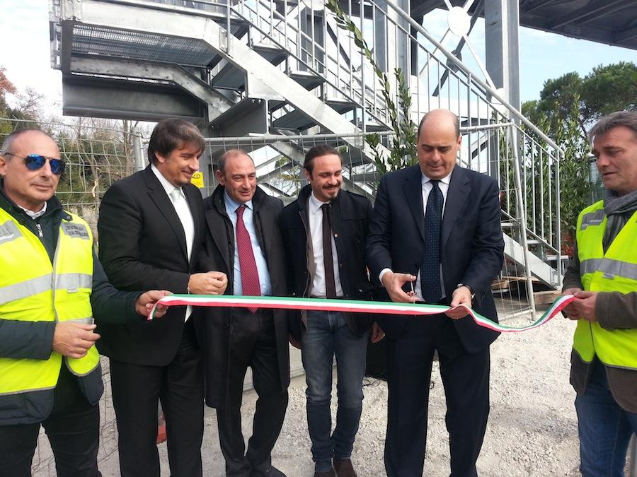 Ricostruito il ponte sulla Flaminia, Zingaretti:
