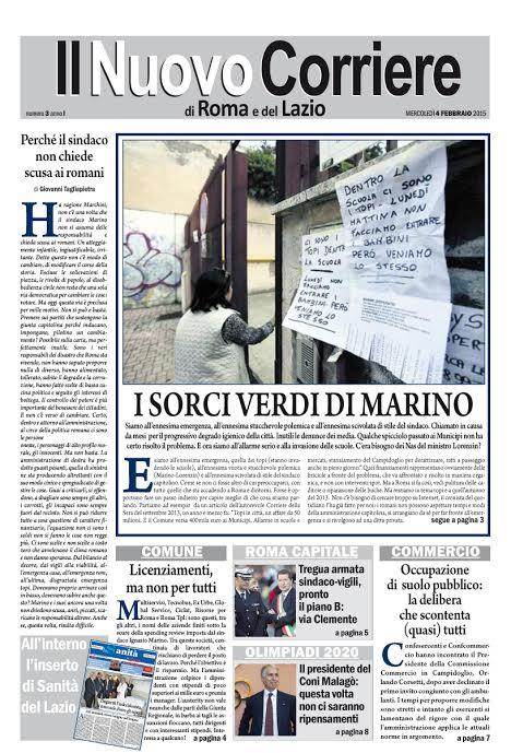 IL NUOVO CORRIERE DI ROMA E DEL LAZIO - MERCOLEDI' 4 FEBBRAIO 2015