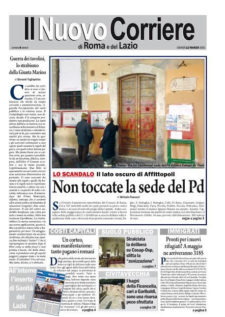 IL NUOVO CORRIERE DI ROMA E DEL LAZIO - GIOVEDI' 12 MARZO 2015