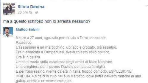 Decina-Salvini, sfida a colpi di post su facebook. La caposegreteria di Marino: