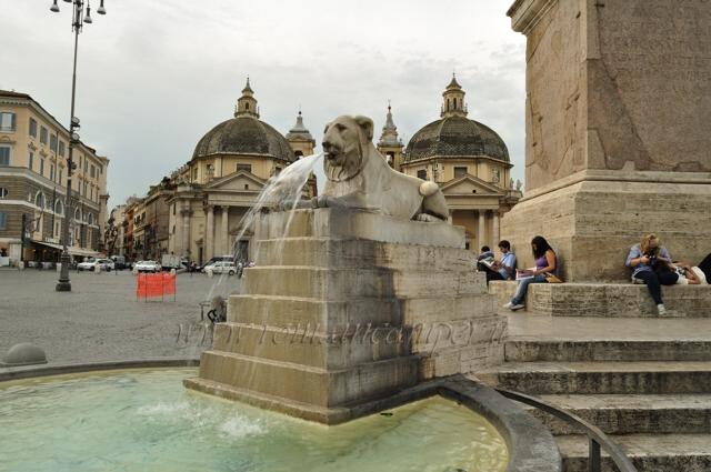 Piazza del Popolo, lunedì al via il restauro della Fontana dei Leoni
