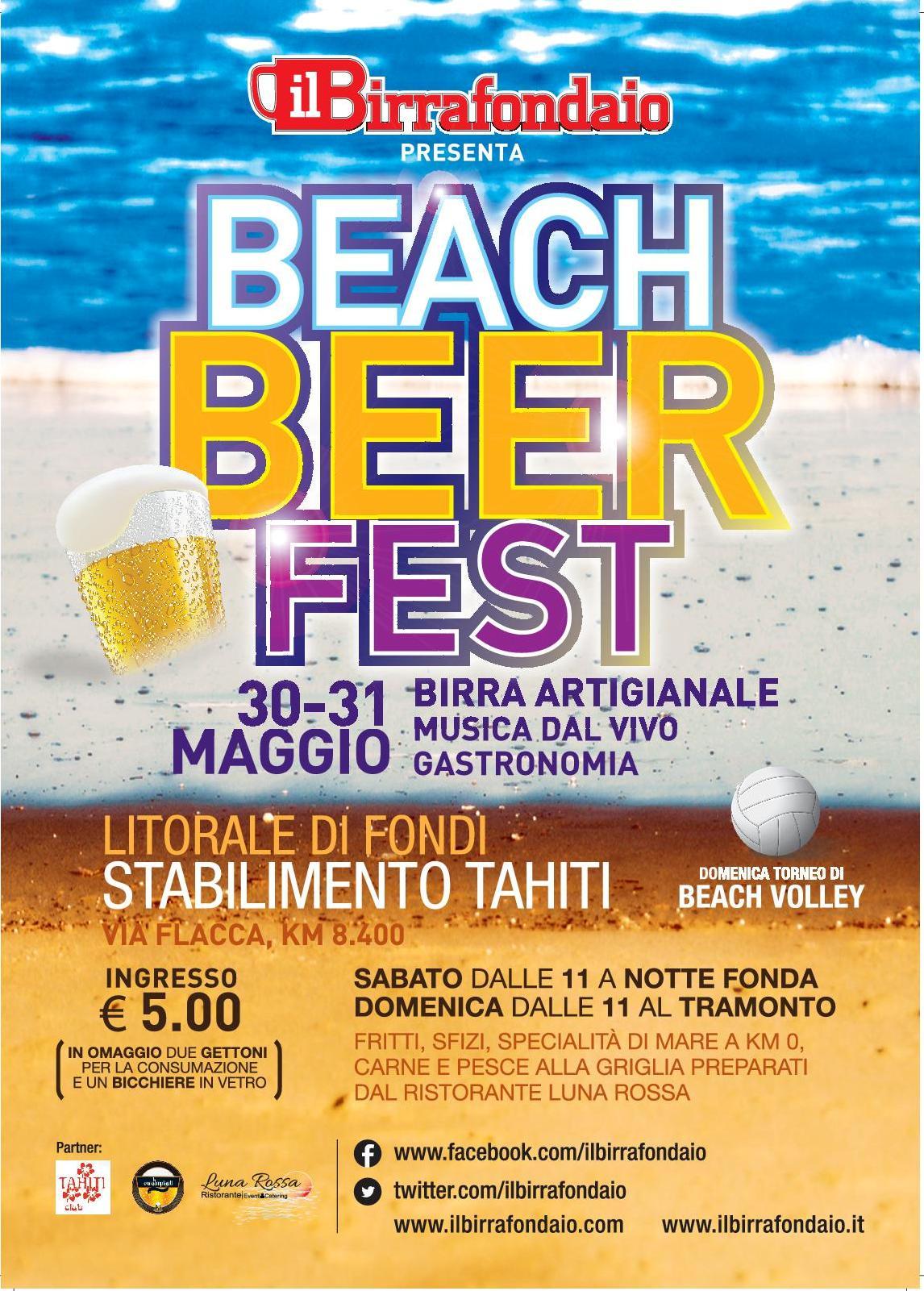 Beach Beer Fest, a Fondi due giornate all'insegna della birra e del divertimento