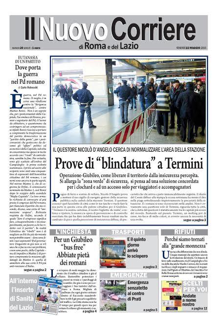 IL NUOVO CORRIERE DI ROMA E DEL LAZIO - VENERDI' 22 MAGGIO 2015