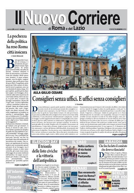 IL NUOVO CORRIERE DI ROMA E DEL LAZIO - VENERDI' 5 GIUGNO 2015
