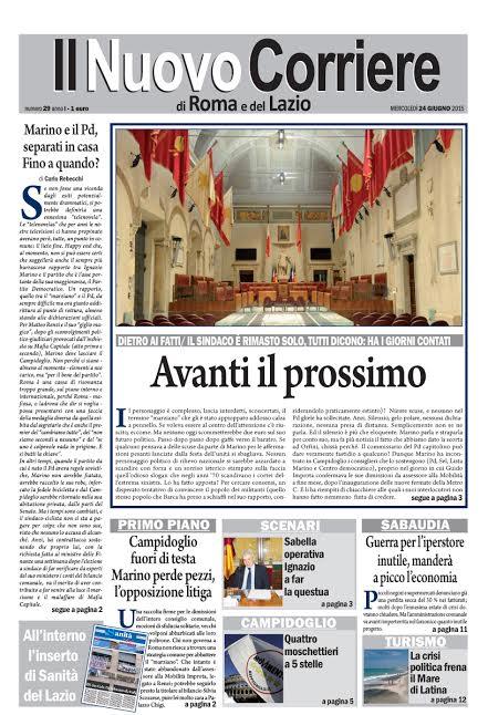 IL NUOVO CORRIERE DI ROMA E DEL LAZIO - MERCOLEDI' 24 GIUGNO 2015
