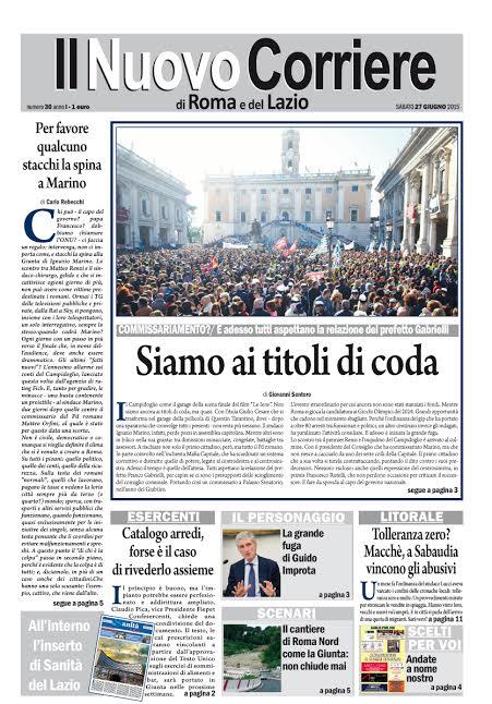 IL NUOVO CORRIERE DI ROMA E DEL LAZIO - SABATO 27 GIUGNO 2015