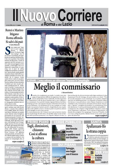 IL CORRIERE DI ROMA E DEL LAZIO - MERCOLEDI' 1 LUGLIO 2015