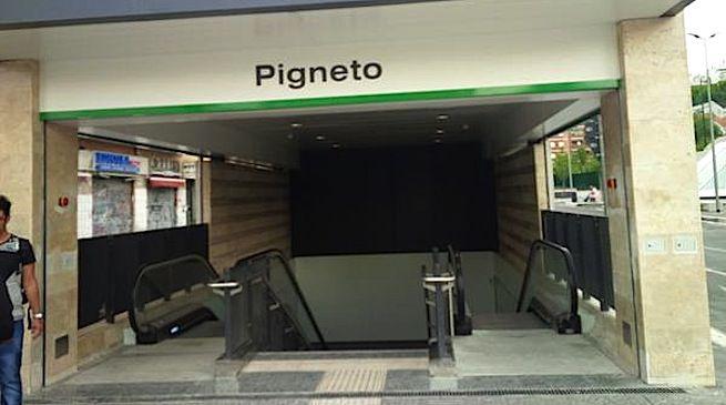 PIGNETO - La stazione della metro C riaperta dopo che era stata danneggiata dai vandali