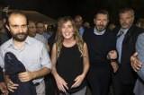 """Marino, Zingaretti, Boschi e Orfini per il brindisi alla festa dell'Unità. Il sindaco: """"Nessuna guerra"""", il ministro: """"Governi"""""""