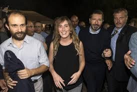 Marino, Zingaretti, Boschi e Orfini per il brindisi alla festa dell'Unità. Il sindaco: