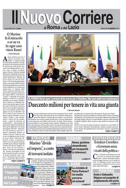 IL NUOVO CORRIERE DI ROMA E DEL LAZIO - SABATO 1° AGOSTO 2015