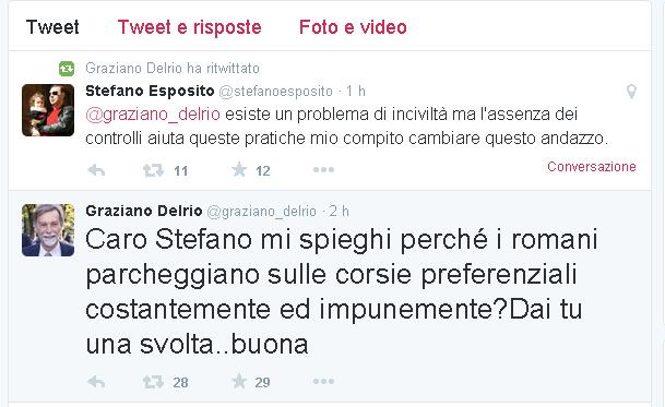Preferenziali, scambio di tweet tra Delrio ed Esposito. Il ministro: