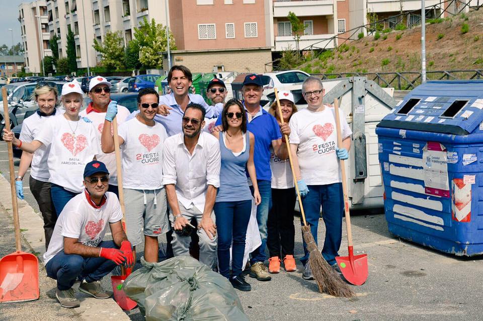 Municipio VI, i volontari di Marchini in strada per pulire le strade: in piazza anche Onorato