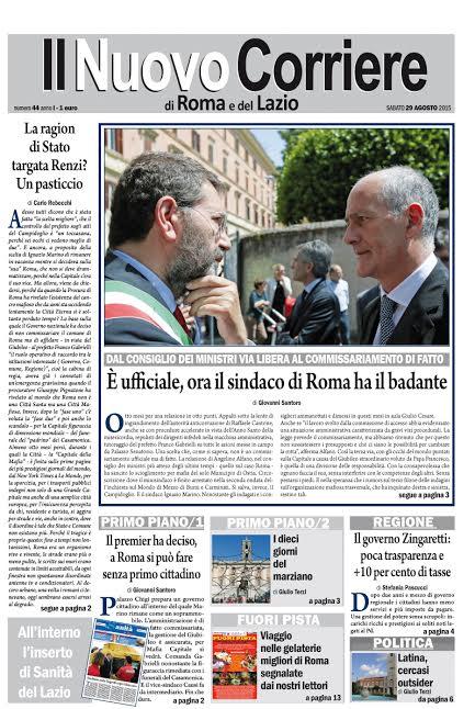 IL NUOVO CORRIERE DI ROMA E DEL LAZIO - SABATO 29 AGOSTO 2015