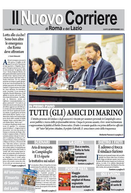 IL NUOVO CORRIERE DI ROMA E DEL LAZIO - SABATO 12 SETTEMBRE 2015